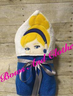 Blue fish Hooded Peeker Towel Present Christmas Birthday Halloween Child or adult Gift