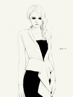 Fashion illustration by Floyd Grey