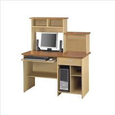 Bestar Active Home Office Computer Desk in Copper Cherry and Maple at http://suliaszone.com/bestar-active-home-office-computer-desk-in-copper-cherry-and-maple/