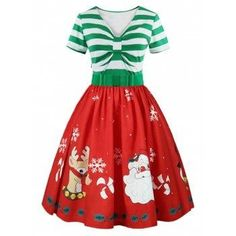 SHARE & Get it FREE | Christmas Printed Short Sleeve Belted Vintage DressFor Fashion Lovers only:80,000+ Items·FREE SHIPPING Join Dresslily: Get YOUR $50 NOW!