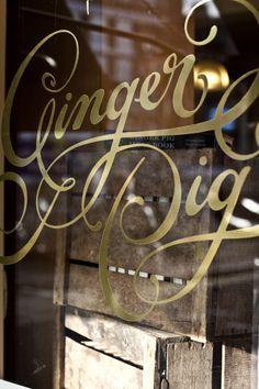 gold lettering