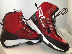 RLX RALPH LAUREN Cordura Red & Black boots
