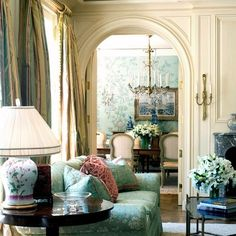 this looks so luxurious and i love the arched doorway and all the colors