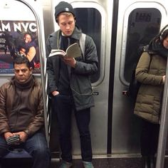 'Hot Dudes Reading' Books On Trains Is The Hottest Instagram Right Now | Bored Panda