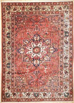SEMI-ANTIQUE PERSIAN BAKHTIARI AREA RUG 40375 - AREA RUG