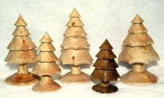 Wood Turned Christmas Trees by sherrie
