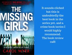 The Missing Girls by Carol Wyer #BookReview @carolewyer @Bookouture