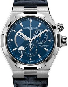 Vacheron Constantin Dual Time Automatic Steel Blue 2015 47450/000A-9039