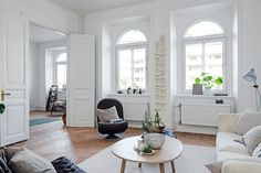 A fab swedish home in neutrals and a cute doggy!