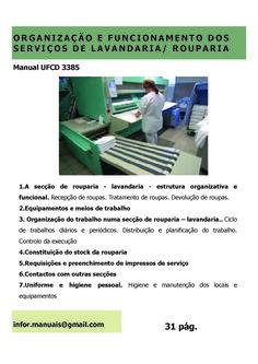 3385. Organização e funcionamento dos serviços de lavandaria e rouparia