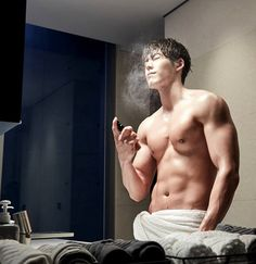 Kim Woo Bin's abs