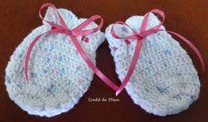 """Como fazer luvinha de crochê para bebe. ~ """"Crochê da Mimi"""""""