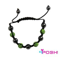 Shamballa Green Bracelet - Hematite and Green Crystal Crystal Beads, Crystals, I Love Jewelry, Best Sellers, Galleries, Fashion Jewelry, Product Launch, Hematite Bracelet, Beaded Bracelets