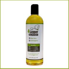 Aloe and Lemongrass Certified Organic Pet Shampoo for Dogs and Cats