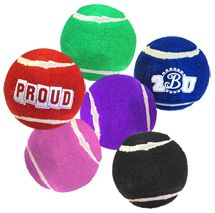 Serve up a fun promotion for humans and their canine owners with these #personalized heavy duty #tennis ball with non-toxic ink. Your message is hot stamp printed on your choice of colored ball.