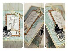 #Baby boy card #scrapbooking #handmade #Kaiserkraft #stamping #bundleofjoy #vintage