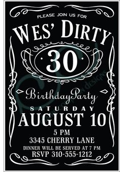 Burgers, Bourbon and Beer– A Surprise 30th Birthday Party ...