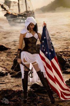 Kotori-Cosplay's sexy Assassin's Creed cosplay, Photo by Tenhaku Photographie