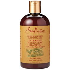 SheaMoisture Manuka Intensive Shampoo cleanses while infusing hair with intense moisture and shine-enhancing nutrients.