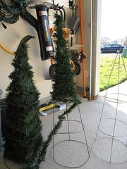 Ideas for cheap and fun alternatives to real trees. Best of all...no needles!