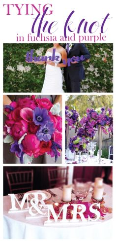 purple & fuchsia wedding decor ideas