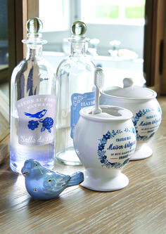 Chateau Blue Bathroom Collection #chateaublue #bathroom #french #vintage