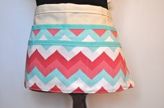 Chevron Vendor Apron  Women's Utility Apron Pastel by CraftyMom75