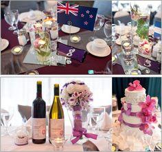 Shanna Elizabeth Photography  www.divaweddingdesign.com  Rentals and Wedding Coordination by Diva Wedding Design  purple and white wedding decor