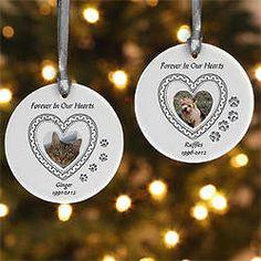 In Loving Memory Personalized Pet Memorial Christmas Ornament