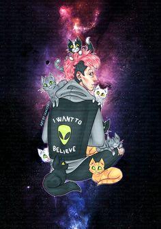 Josh and cats and galaxy... iamzero poweredbycokezero