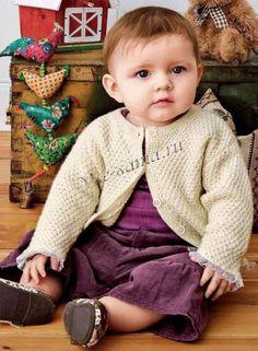 Жакетик на пуговках для девочки, фото