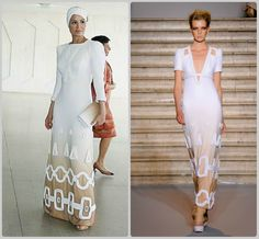 Sheikha Mozah is wearing Stephane Rolland Autumn/Winter Couture 2009-10  Love her style