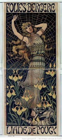 Illustration Art Nouveau, Art Nouveau Poster, Art Parisien, Folies Bergeres, Henri De Toulouse Lautrec, Romantic Period, Principles Of Art, Paris Art, Vintage Art Prints