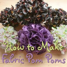 How you can make your own diy fabric pom poms step by step tutorial with a Clover maker
