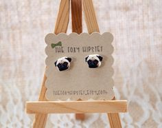 A personal favorite from my Etsy shop https://www.etsy.com/listing/237843852/pug-stud-earrings-gift-idea-cool-jewelry