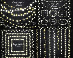 BIG SET of Fairy Lights Clipart String Lights Clipart Fairy Lights frame Lights clip art EPS Vector Personal and Commercial Use The Sims 4 Pc, Sims Four, Sims 4 Mm, Mods Sims, Sims 4 Game Mods, Mini Wallet, Ideas Scrapbook, Muebles Sims 4 Cc, Sims 4 Traits
