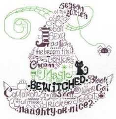 Let's Be Wicked Cross Stitch Pattern (14-2118) Embroidery Patterns by Imaginating