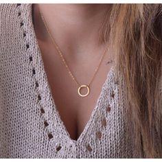 Halskette mit Ring Anhänger Modische Kette Elegant aus Großhandel und Import