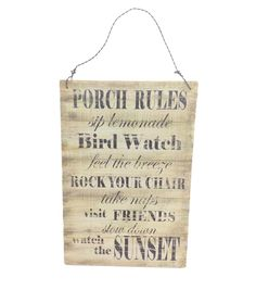 In The Garden Wall Decor-Porch Rules