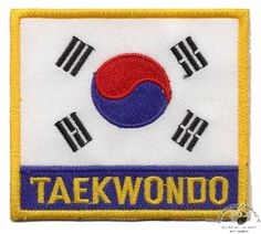 TAE KWON DO Embroidered Heat Sealed Patch P062