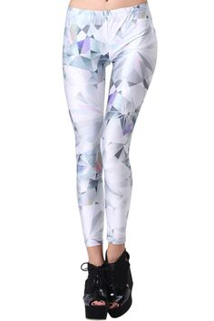 """""""Diamond Cut """" Leggings. Description These Leggings have been crafted from elastic fabric design, featuring brief styling with diamond cut print look design, a stretchy waist and all in a soft-touch stretch finish. Fabric 88% Dacron and 12% Spandex. Washing 40 degree machine wash , low iron. #Romwe"""