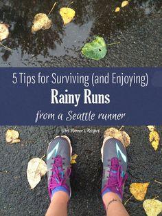 5 Tips for Surviving and Enjoying Rainy Runs Running Everyday, Running In The Rain, Running Race, Running Workouts, Running Tips, Running Rain Gear, Running Blogs, Running Form, Winter Running