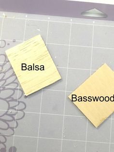 how to cut basswood for models