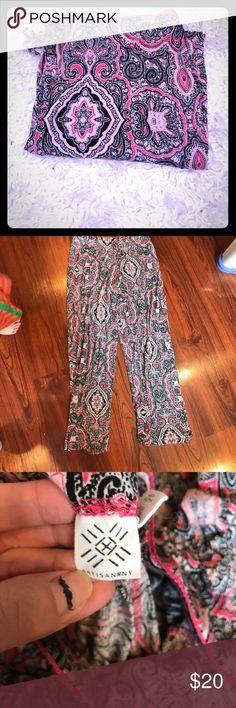 Pink paisley patterned pj pants⭐️ Soft n stretchy and lightweight...so comfy and love the print.. only selling bc I have a few pairs.. purchased at Macys ♥️ Artisan Ny Intimates & Sleepwear Pajamas