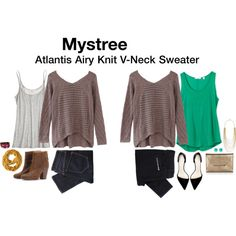 Fix #1:  Atlantis Airy Knit V-Neck Sweater - Has gotten the most wear out of my Stitch Fix items because of versatility.  I rocked it with skinny jeans on Thanksgiving and have strutted it around work on numerous occasions.
