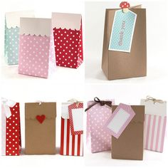 Teacher gift label inspiration - bottom left red dot label with plain white square on it - perfect!!