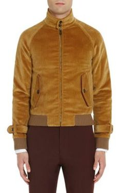 Prada Leather-trimmed Cotton-corduroy Jacket In Tan Mens Corduroy Jacket, Leather Jacket, Mens Outdoor Jackets, Revival Clothing, Prada Men, Raw Denim, Mens Fall, Jacket Style, Bomber Jacket