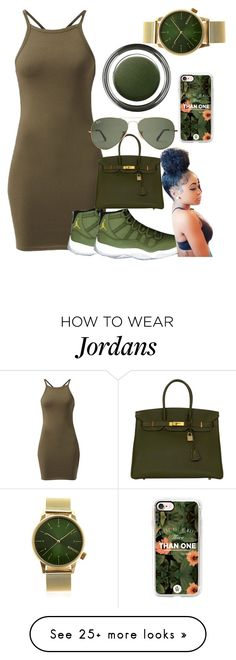 """""""Untitled #572"""" by dtx-jada on Polyvore featuring Hermès, Casetify, Giorgio Armani and Komono"""