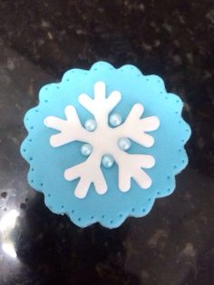 Cupcake - snowflake - para o tema Frozen (Disney)