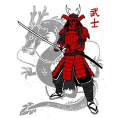 Samurai japan dragon - NeatoShop